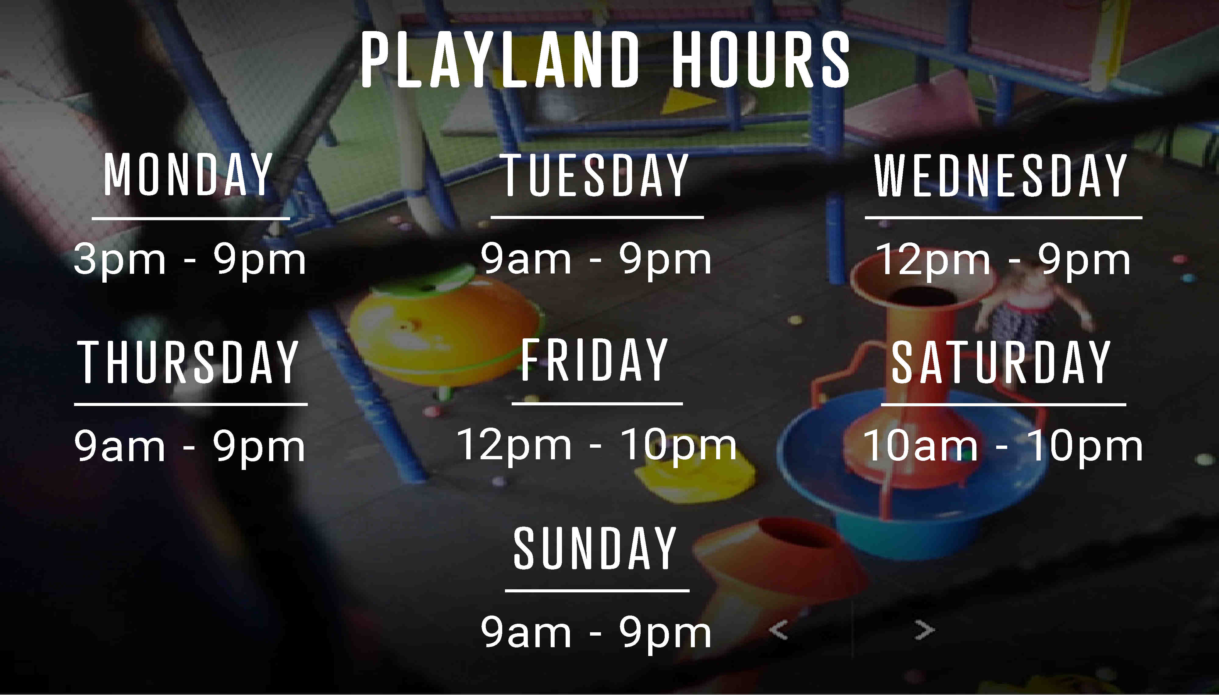 Playland hours of operation