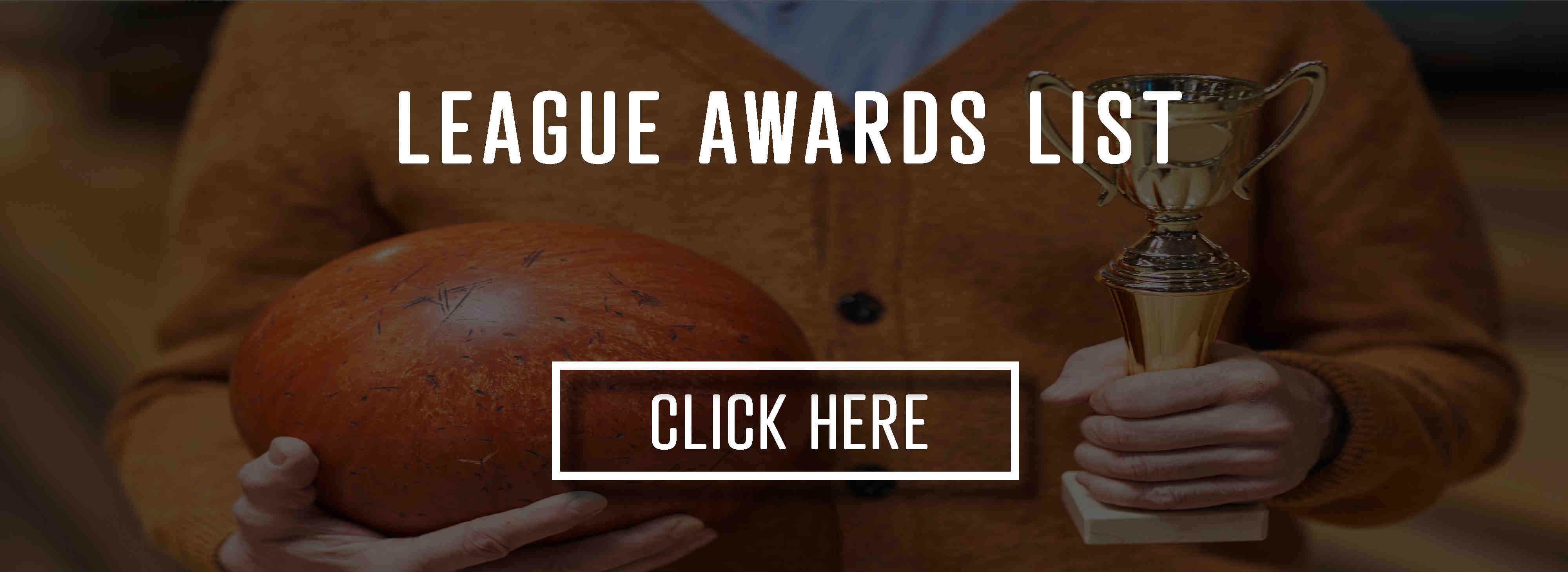 League awards list