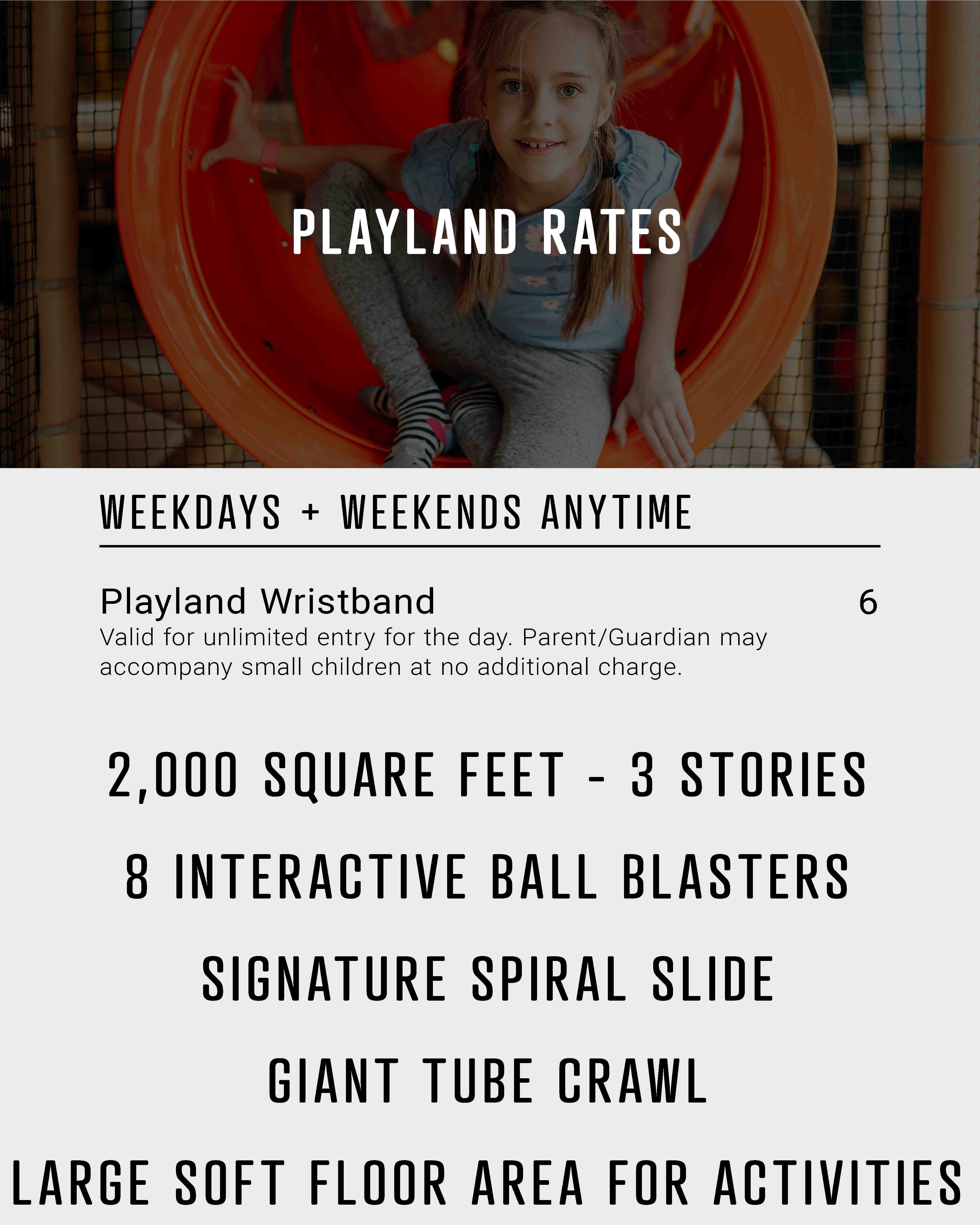 Playland rates and information